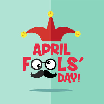 April fool's day, Typography, Colorful, flat design