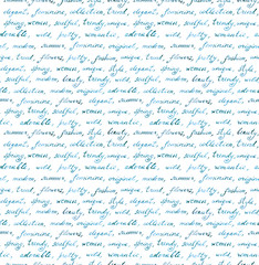 Hand written text - lorem ipsum text. Repeating pattern, handwritten background, for education design