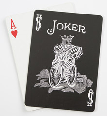 April Fools Black Joker with Red Heart
