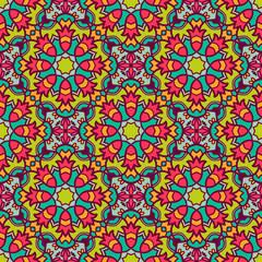 Printed kitchen splashbacks Moroccan Tiles Ethnic seamless pattern