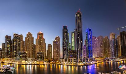 Panorama of Dubai marina