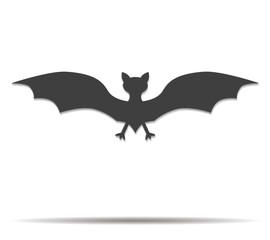 bat double shadow icon vector