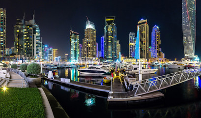 Printed roller blinds Dubai Panorama of Dubai marina