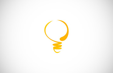 abstract bulb logo vector