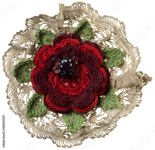 Knitted Flower Brooch Stock Photo And Royalty Free Images On