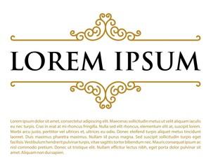 Elegant Gold Crest Emblem Logo Template v.4
