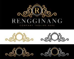 Elegant Gold Crest Emblem Logo Template v.1