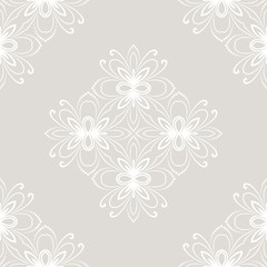 Oriental vector classic light ornament. Seamless abstract background with repeating elements