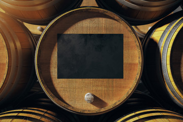 Barrel top with blackboard