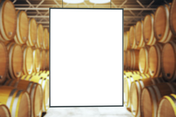 Blank frame in winery