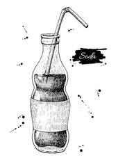 Vector soda drawing. Hand drawn soda illustrations.