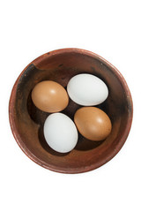 two red and two white eggs