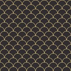 Seamless antique palette vintage oriental sea waves pattern vector