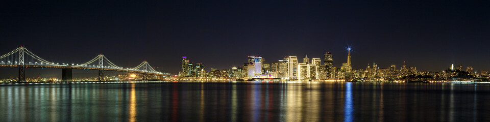 Fototapete - San Francisco Skyline at Night