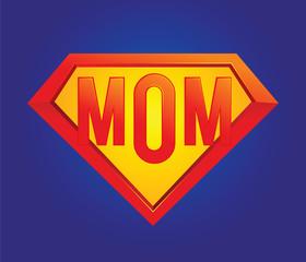 Mom Superhero Symbol