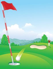 Hole in One Golf background