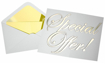Special Offer Deal Bargain Discount Low Price Proposal Envelope