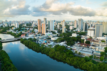Recife city / RECIFE, PERNAMBUCO, BRAZIL -  March 24: Aera view of Recife city