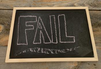 Fail concept written in chalk