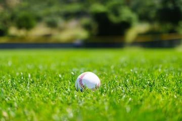 Baseball at a baseball field in California mountains