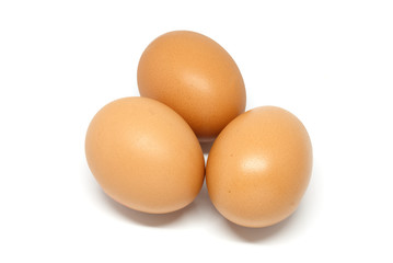 Eggs in white background