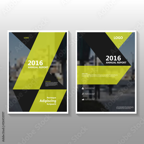 Yellow Vector Poster Leaflet Brochure Flyer Template Design Book - 3d brochure template