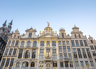 Grand place in Brussels in twilight
