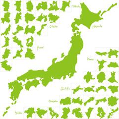 日本地図 都道府県 手書き