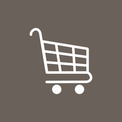 Shopping Cart Icon on Dark Gray Color. Eps-10.