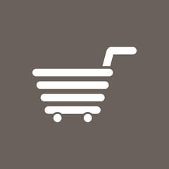 Shopping Cart Icon on Dark Gray Color. Eps-10.