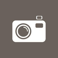 Camera Icon on Dark Gray Color. Eps-10.