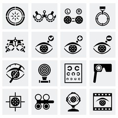Vector Optometry icon set
