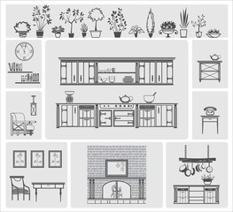 icons of different kitchen elements