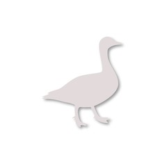 The silhouette of a goose icon