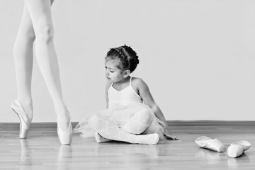 little girl in ballet school