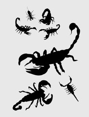 Scorpion Silhouettes, art vector design