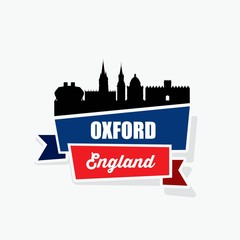Fotomurales - Oxford UK ribbon banner