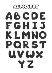 Cartoon alphabet for preschool kids.