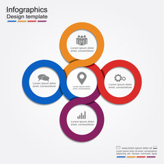 Infographic report template. Vector illustration.