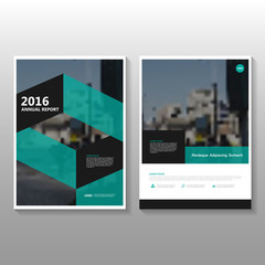 Green Geometric Leaflet Brochure Flyer template design, book cover layout design, Abstract green presentation templates