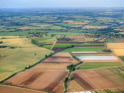 Aerial Photograph of British Fields