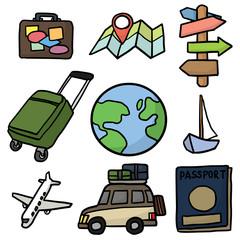 vector set of travel icon