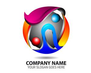 Energi Resource Glossy Sphere Logo Icon Template