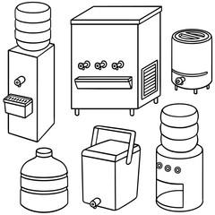 vector set of water cooler