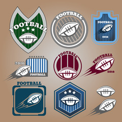 American football  league labels, emblems and design elements ep