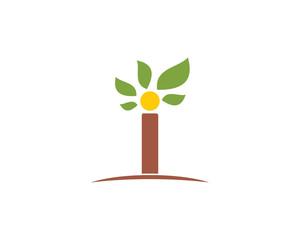 Leaf I Letter Logo