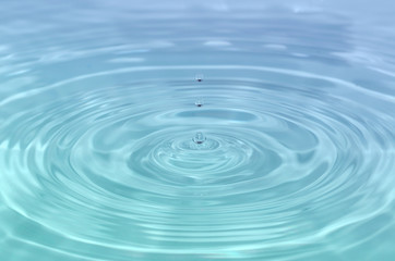 Close up detail of a droplet of water