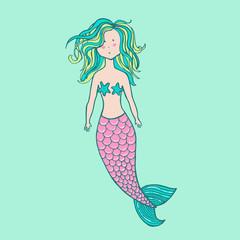 Little cute mermaid