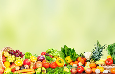Fototapete - Fruits and vegetables.