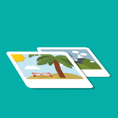 travel and photo icon design